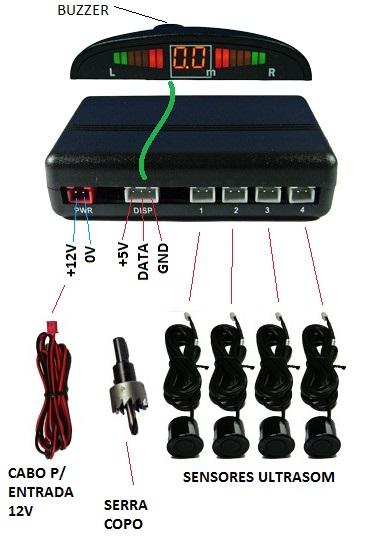 kit sensor estacionamento